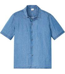 camicia a maniche corte sostenibile in tencel ™ (blu) - john baner jeanswear