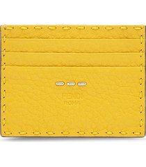 fendi business card holder - yellow