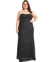 vestido lala dubi plus size infinity dress longo sereia