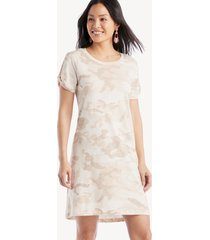 sanctuary women's so twisted t shirt dress in color: sand dune camo size large from sole society
