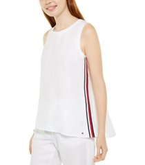 tommy hilfiger high-low woven top, created for macy's