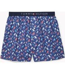 tommy hilfiger men's cotton classics fashion boxer blue ocean - l