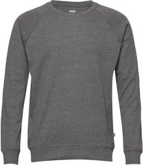 cotton rib melange stelt sweat-shirt trui grijs mads nørgaard
