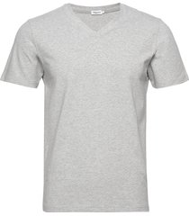 m. lycra v-neck tee t-shirts short-sleeved grå filippa k