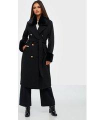river island fur cuff robe coat kappor
