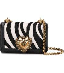 dolce & gabbana micro devotion crossbody bag - black