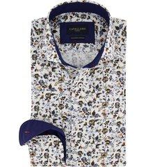 cavallaro shirt wit met bloemenprint blauw