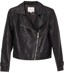 matt & nat savina womens vegan moto jacket, black