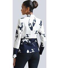 kavaj alba moda vit::marinblå