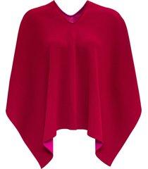 valentino asymmetrical cape in bicolor viscose