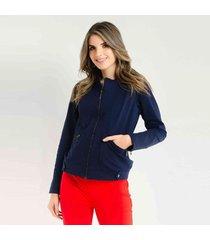 chaqueta para mujer color azul