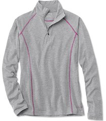 orvis women's drirelease long-sleeved quarter-zip tee / only drirelease long-sleeved quarter-zip tee, heathered gray, medium