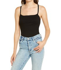 women's lulus heights ribbed strappy backless bodysuit