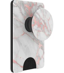popsockets marble-print cell phone wallet