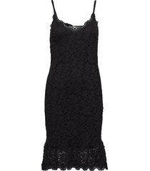 strap dress jurk knielengte zwart rosemunde