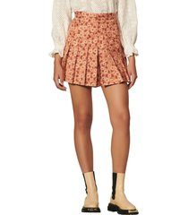 women's sandro daisy & polka dot skort, size 8 us - brown