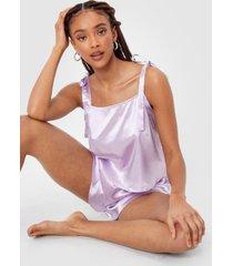 womens late night feelings satin pajama short set - mauve