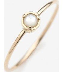 pierścionek z żółtego złota z masą perłową
