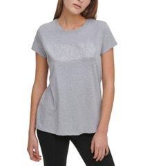 calvin klein logo-embellished crewneck t-shirt