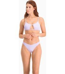 bikinibroekje v-vormig voor dames, paars, maat xl | puma