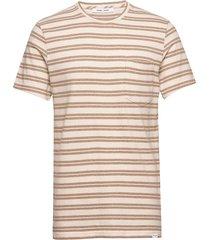 carpo t-shirt st 7888 t-shirts short-sleeved beige samsøe samsøe