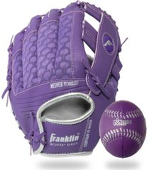 "franklin sports mesh teeball glove and ball set - 9.5"" - lefty thrower"