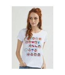 camiseta bandup turma da mônica emoji