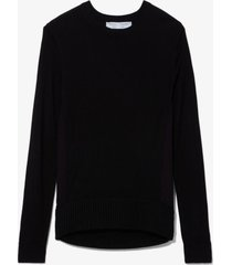 proenza schouler white label twisted knot combo silk knit sweater black s