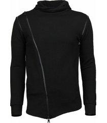daniele volpe casual hoodie zwart