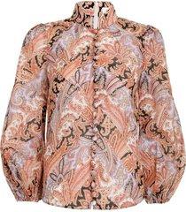 botanica chevron blouse in paisley