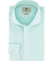 overhemd r2 blauw motief
