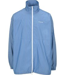 balenciaga striped lightweight logo jacket