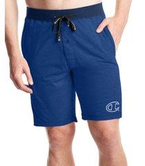 champion men's cotton colorblocked jogger pajama shorts