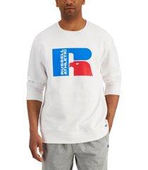 russell athletic men's ricardo logo-print fleece sweatshirt