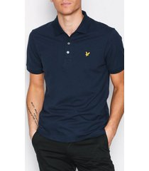 lyle & scott plain polo shirt piké navy