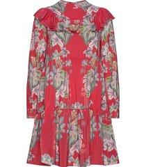malva dress knälång klänning röd by malina