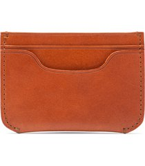 men's bosca italo leather card case - brown
