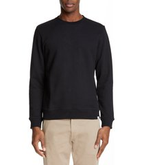 men's norse projects vagn crewneck cotton sweatshirt, size large - black