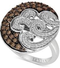 le vian chocolatier diamond swirl ring (1 ct. t.w.) in 14k white gold