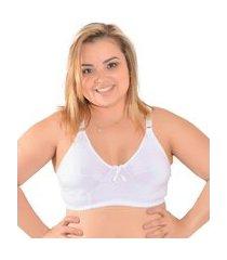 sutiã plus size conforto algodão sem bojo tamanhos especias branco tamanho 52
