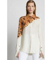 proenza schouler tie dye linen viscose shirt 968 bronze multi 8