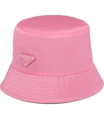 prada nylon bucket hat - pink
