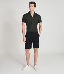 reiss wicket - casual chino shorts in black, mens, size 36