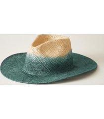 sundance catalog women's dip dye hat in natural/navy