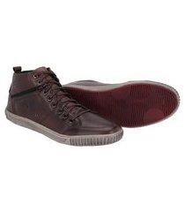 sapatenis cano alto couro tchwm shoes masculino moderno café