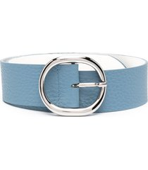 orciani high-waist soft leather belt - blue