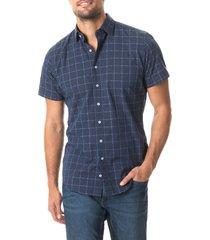 men's rodd & gunn minden regular fit check short sleeve button-up shirt