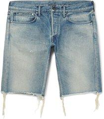 john elliott denim shorts