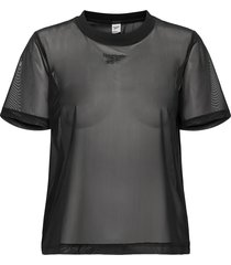 cl sheer tee t-shirts & tops short-sleeved svart reebok classics