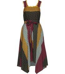 adita drape mix print dress jurk knielengte multi/patroon french connection